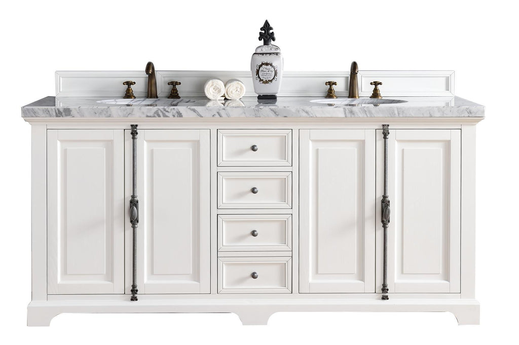 72 Providence Cottage White Double Sink Bathroom Vanity
