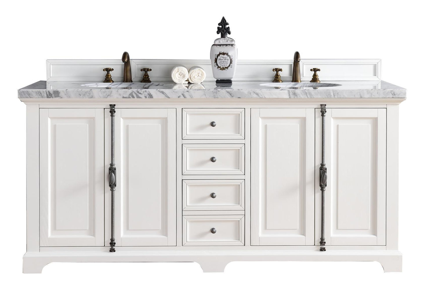 "72"" Providence Cottage White Double Sink Bathroom Vanity, James Martin Vanities - vanitiesdepot.com"