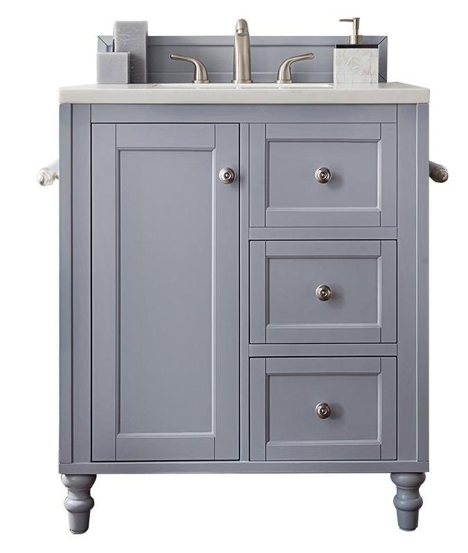 "30"" Copper Cove Encore Silver Gray Single Sink Bathroom Vanity, James Martin Vanities - vanitiesdepot.com"
