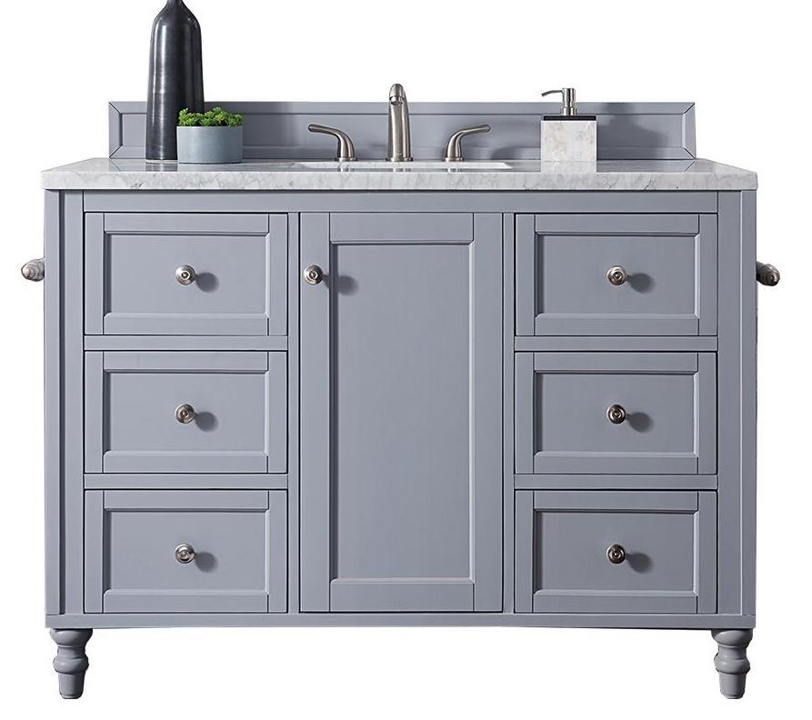 "48"" Copper Cove Encore Silver Gray Single Sink Bathroom Vanity, James Martin Vanities - vanitiesdepot.com"