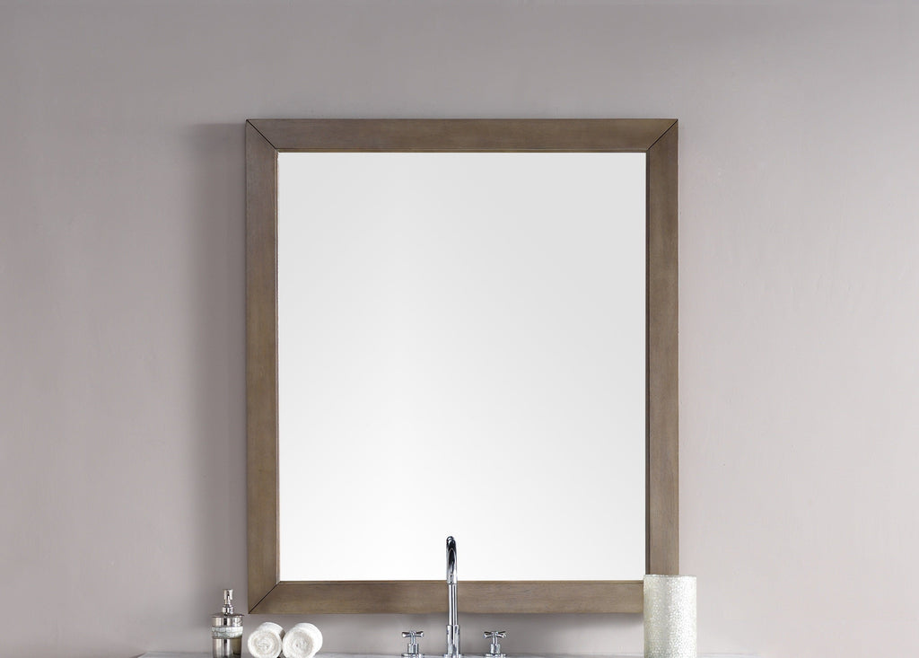 "Chicago 48"" Mirror, Whitewashed Walnut, James Martin Vanities - vanitiesdepot.com"