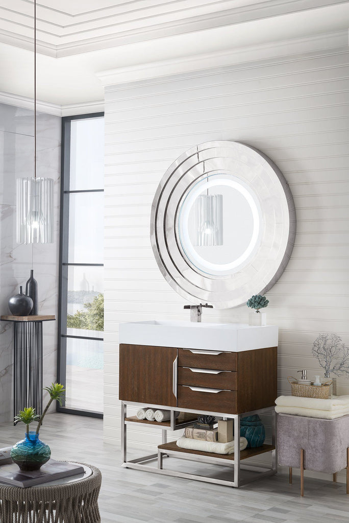 "36"" Columbia Single Bathroom Vanity, Coffee Oak, James Martin Vanities - vanitiesdepot.com"