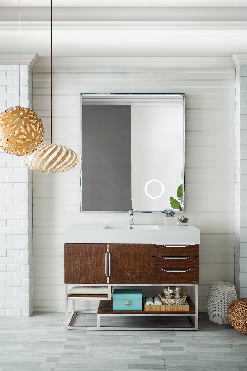 "48"" Columbia Single Bathroom Vanity, Coffee Oak, James Martin Vanities - vanitiesdepot.com"