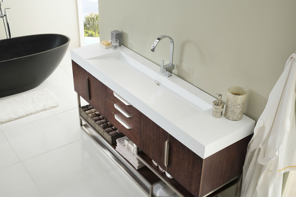 72 Quot Columbia Coffee Oak Single Sink Bathroom Vanity