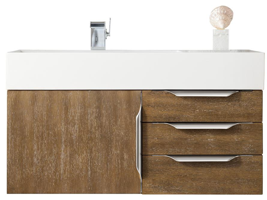 "36"" Mercer Island Single Bathroom Vanity, Latte Oak, James Martin Vanities - vanitiesdepot.com"