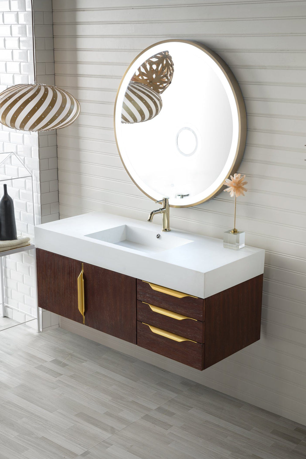 "48"" Mercer Island Single Bathroom Vanity, Coffee Oak, James Martin Vanities - vanitiesdepot.com"
