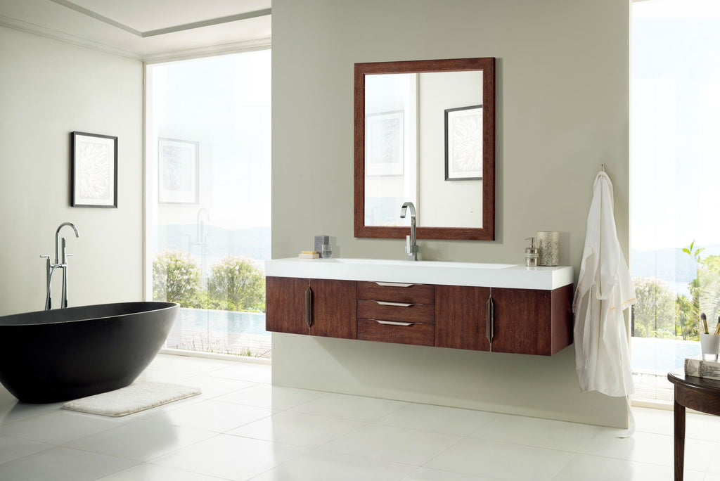 "72"" Mercer Island Single Bathroom Vanity, Coffee Oak, James Martin Vanities - vanitiesdepot.com"