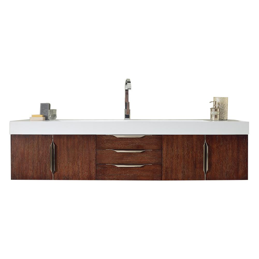 "72"" Mercer Island Coffee Oak Single Sink Bathroom Vanity, James Martin Vanities - vanitiesdepot.com"