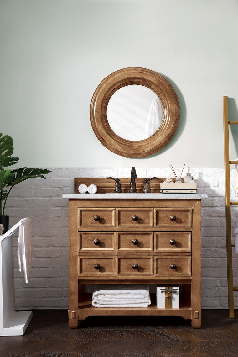 "36"" Malibu Honey Alder Single Sink Bathroom Vanity - vanitiesdepot.com"