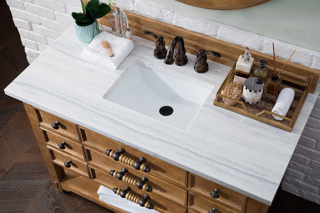 "48"" Malibu Honey Alder Single Sink Bathroom Vanity, James Martin Vanities - vanitiesdepot.com"