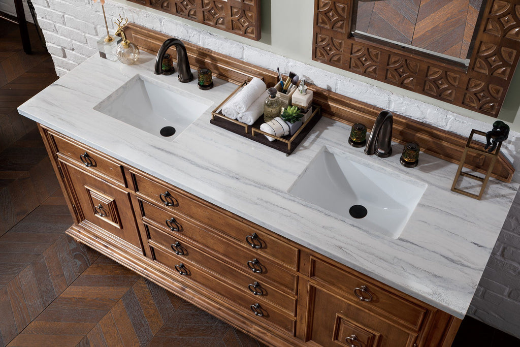 "72"" Mykonos Cinnamon Double Sink Bathroom Vanity, James Martin Vanities - vanitiesdepot.com"