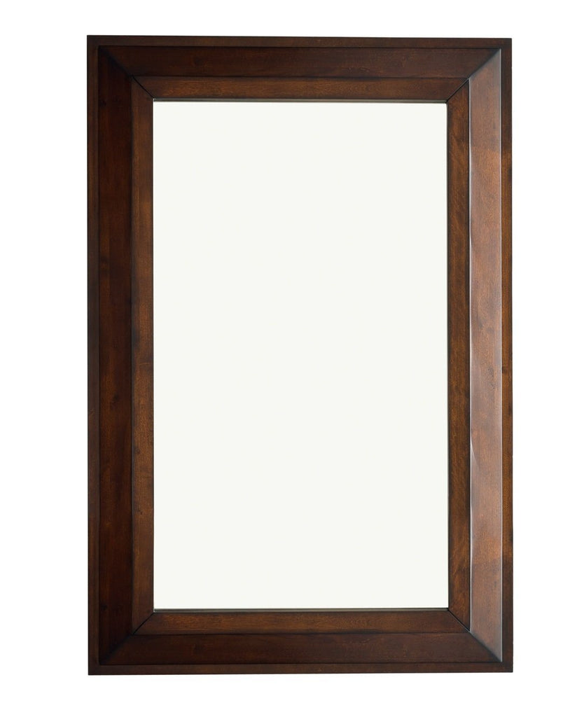 "Portland 28"" Rectangular Mirror, Burnished Mahogany, James Martin Vanities - vanitiesdepot.com"
