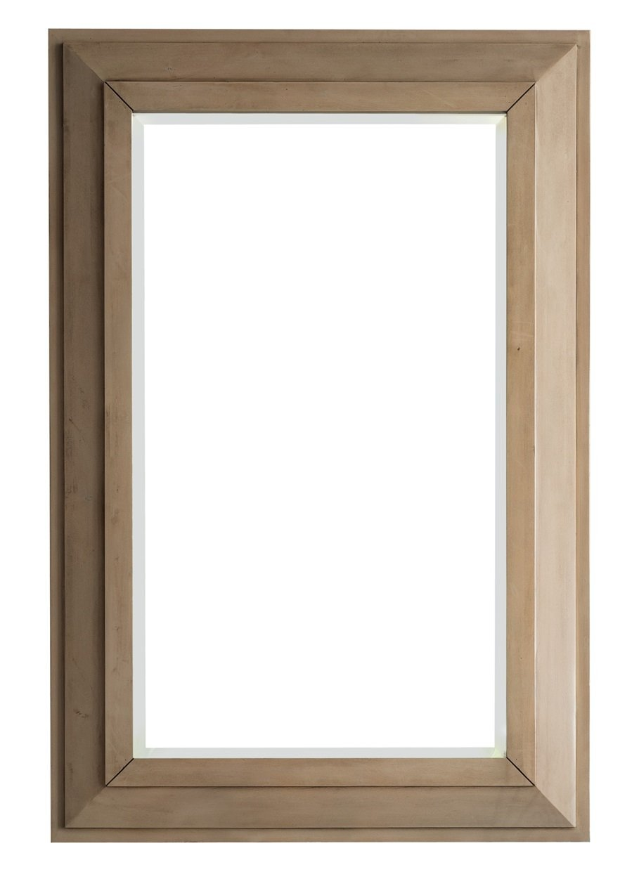 "Portland 28"" Rectangular Mirror, Whitewashed Walnut, James Martin Vanities - vanitiesdepot.com"