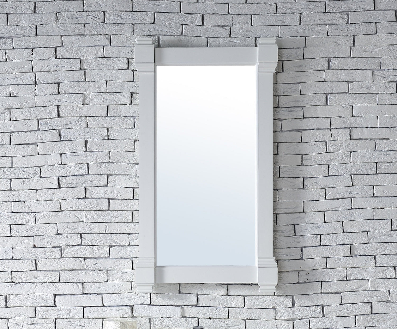 "Brittany 22"" Mirror, Cottage White, James Martin Vanities - vanitiesdepot.com"