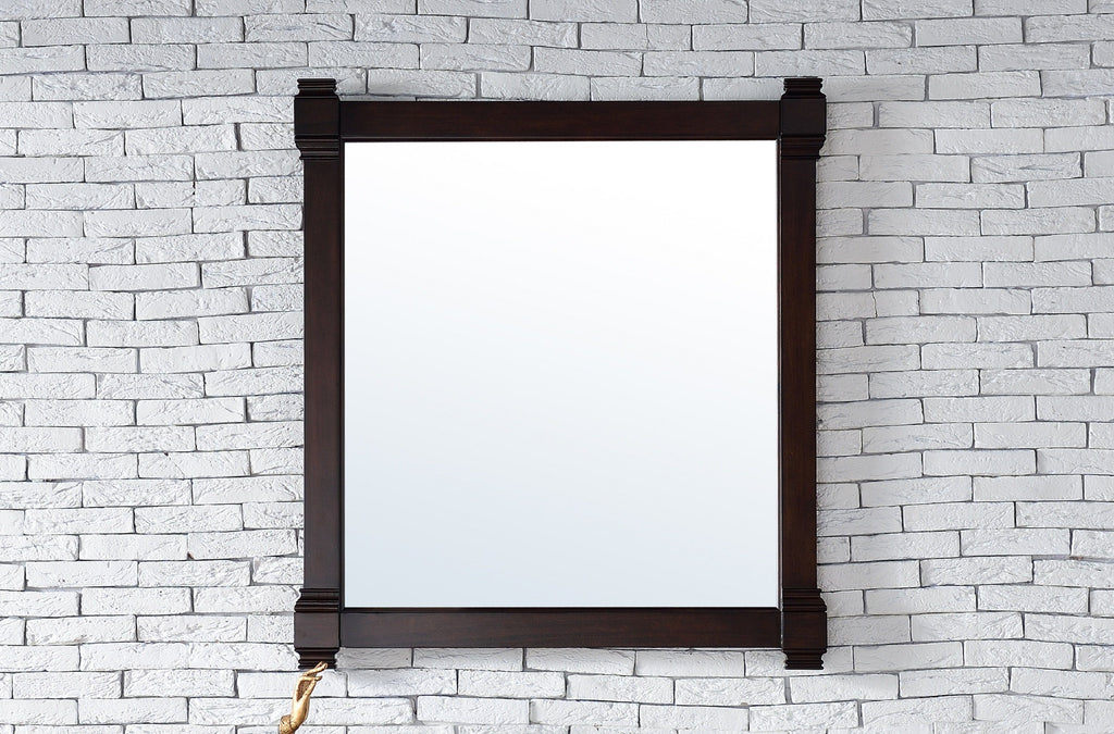 "Brittany 35"" Mirror, Burnished Mahogany, James Martin Vanities - vanitiesdepot.com"