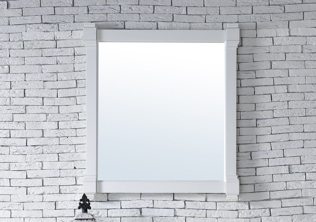 "Brittany 35"" Mirror, Cottage White, James Martin Vanities - vanitiesdepot.com"