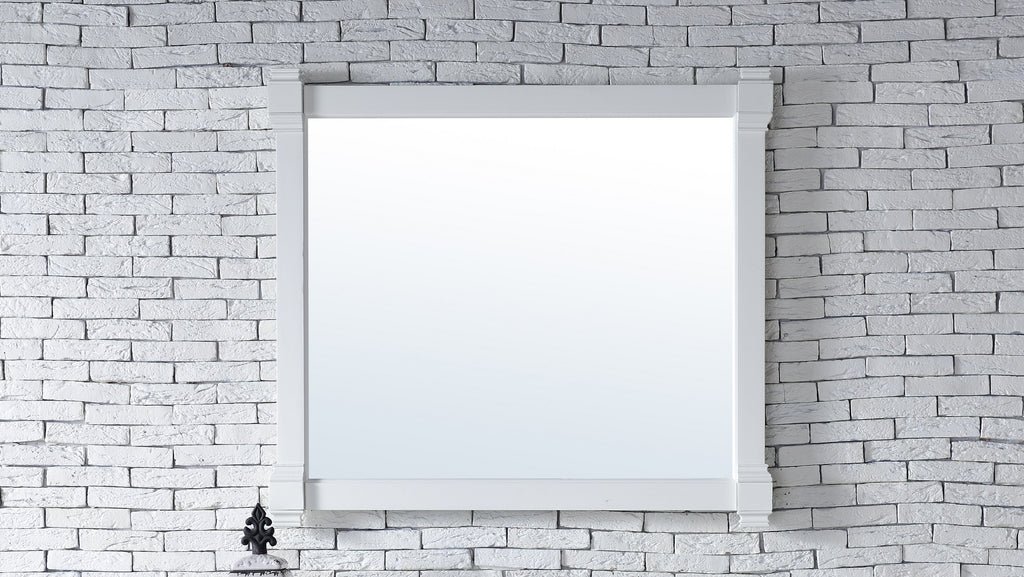 "Brittany 43"" Mirror, Cottage White, James Martin Vanities - vanitiesdepot.com"