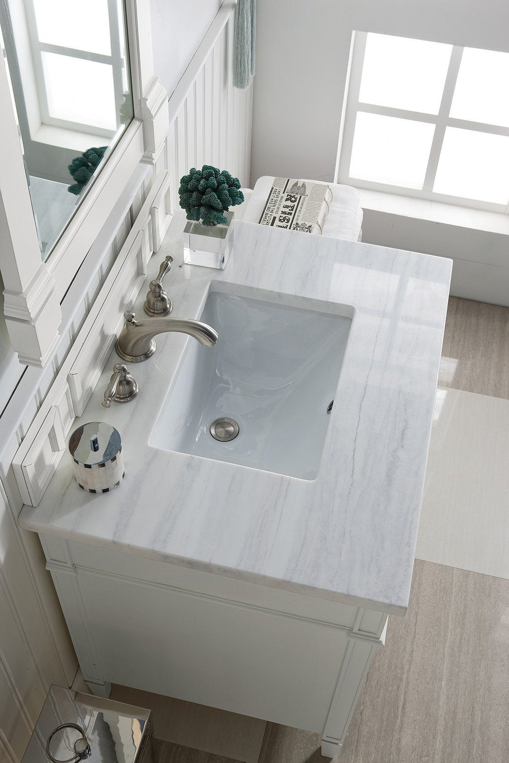 "30"" Brittany Cottage White Single Sink Bathroom Vanity, James Martin Vanities - vanitiesdepot.com"