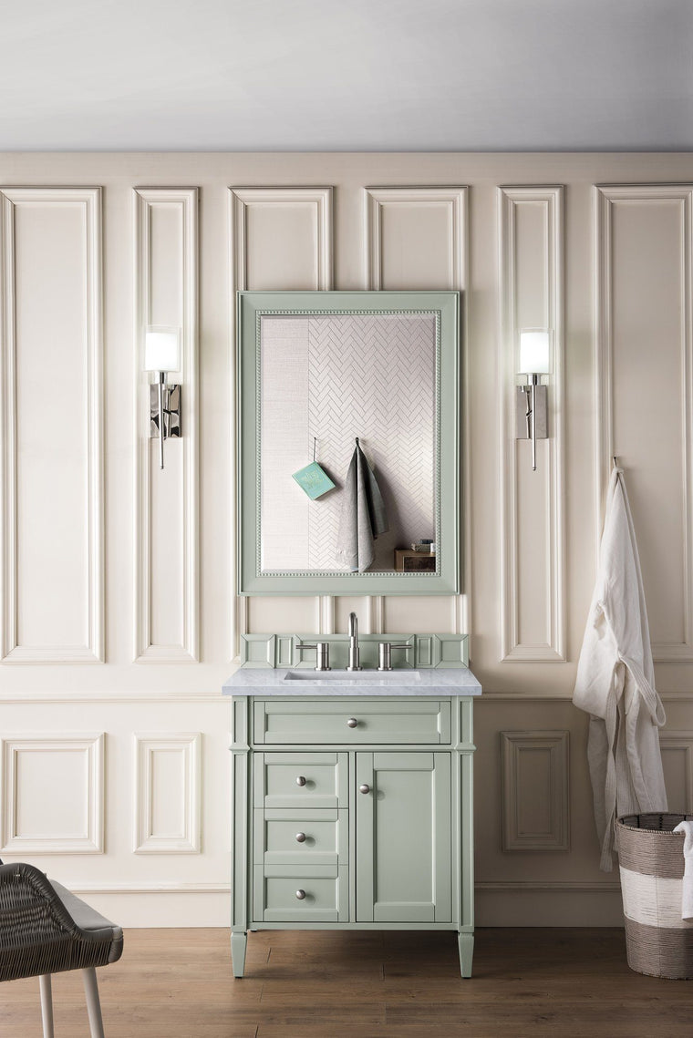 "30"" Brittany Sage Green Single Sink Bathroom Vanity"