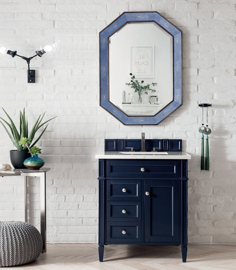 "30"" Brittany Single Bathroom Vanity, Victory Blue, James Martin Vanities - vanitiesdepot.com"