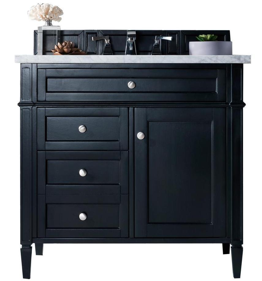"36"" Brittany Black Onyx Single Bathroom Vanity, James Martin Vanities - vanitiesdepot.com"