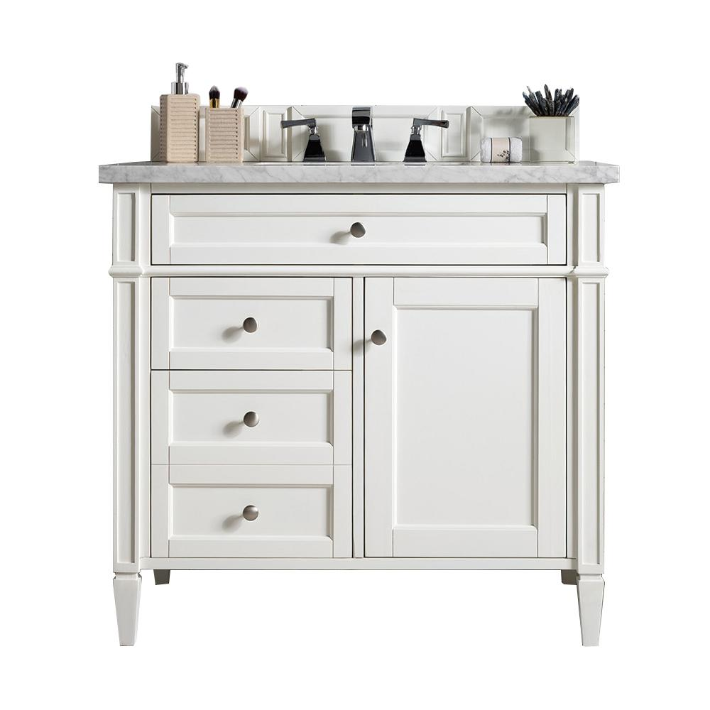 36 Brittany Single Bathroom Vanity Bright White