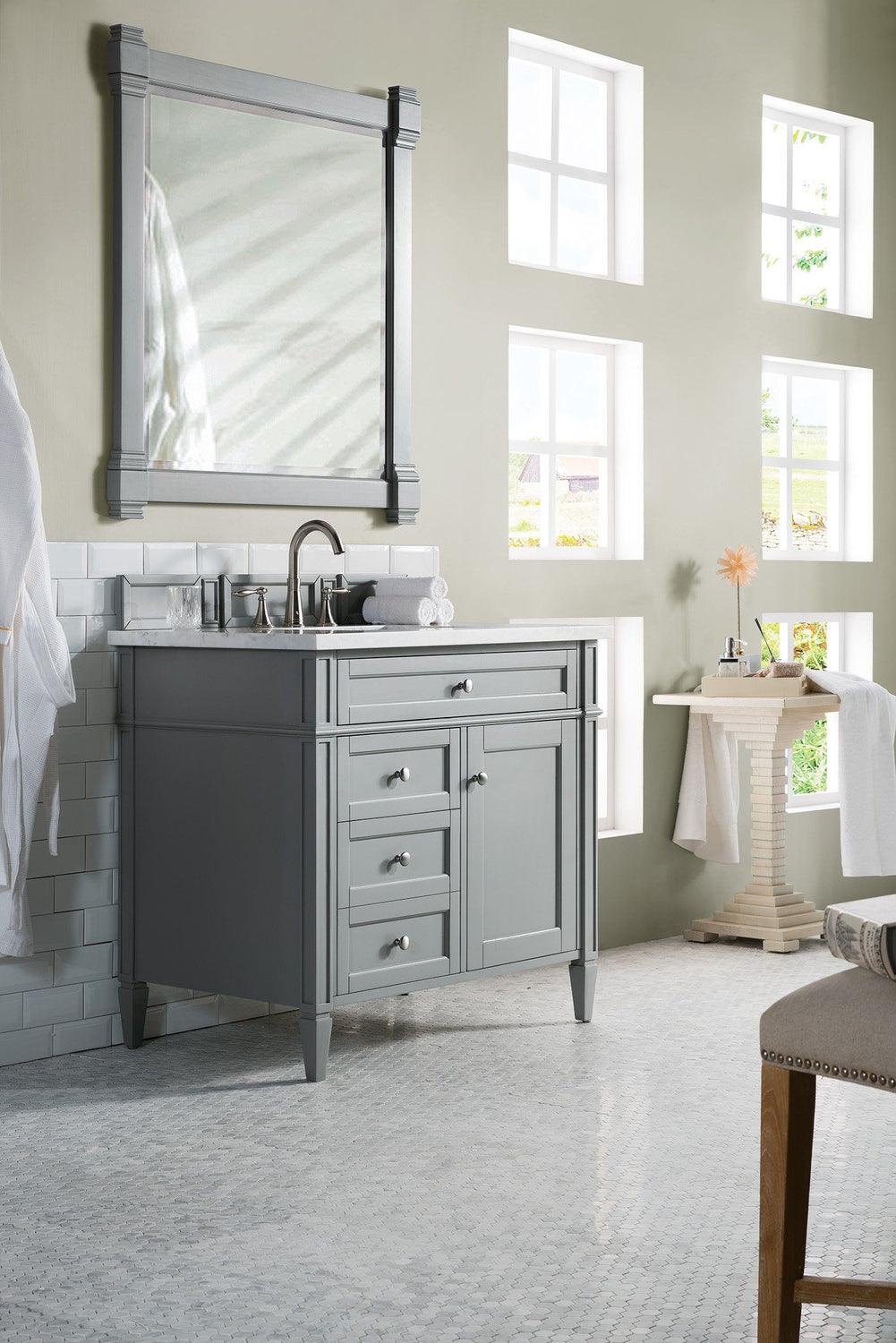 "36"" Brittany Single Bathroom Vanity Urban Gray - vanitiesdepot.com"