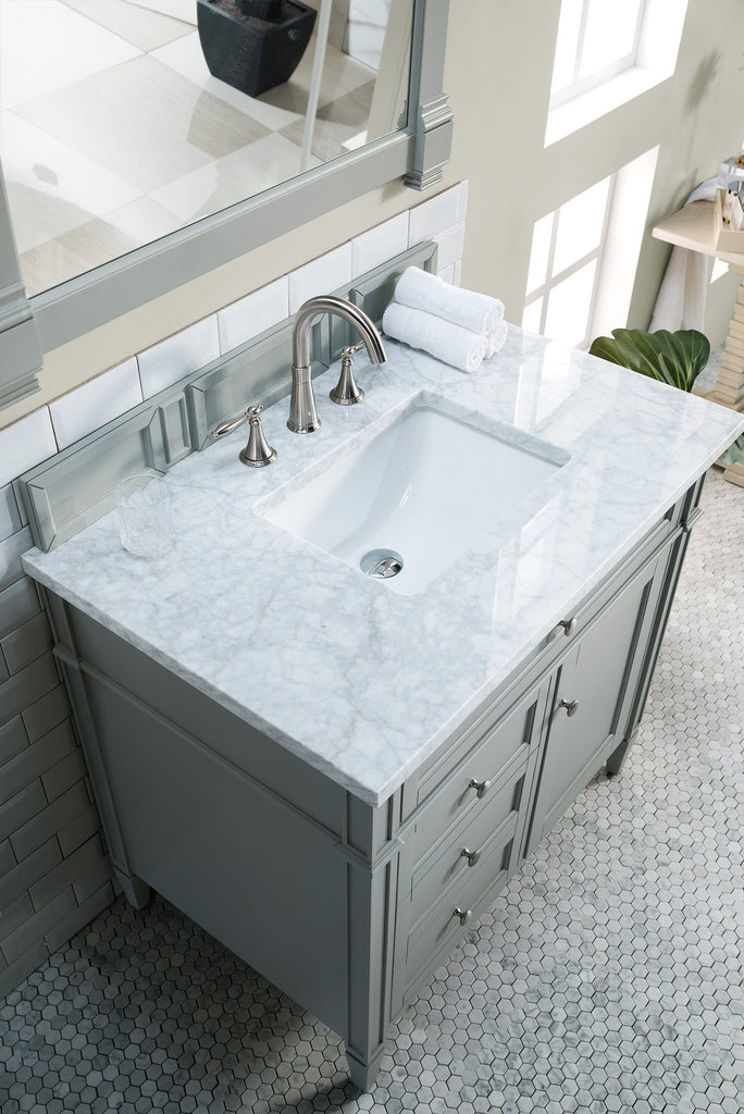 "36"" Brittany Single Bathroom Vanity Urban Gray, James Martin Vanities - vanitiesdepot.com"