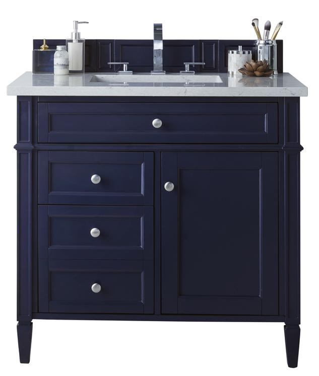 "36"" Brittany Single Bathroom Vanity Victory Blue, James Martin Vanities - vanitiesdepot.com"