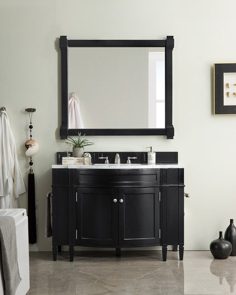 "46"" Brittany Black Onyx Single Bathroom Vanity, James Martin Vanities - vanitiesdepot.com"