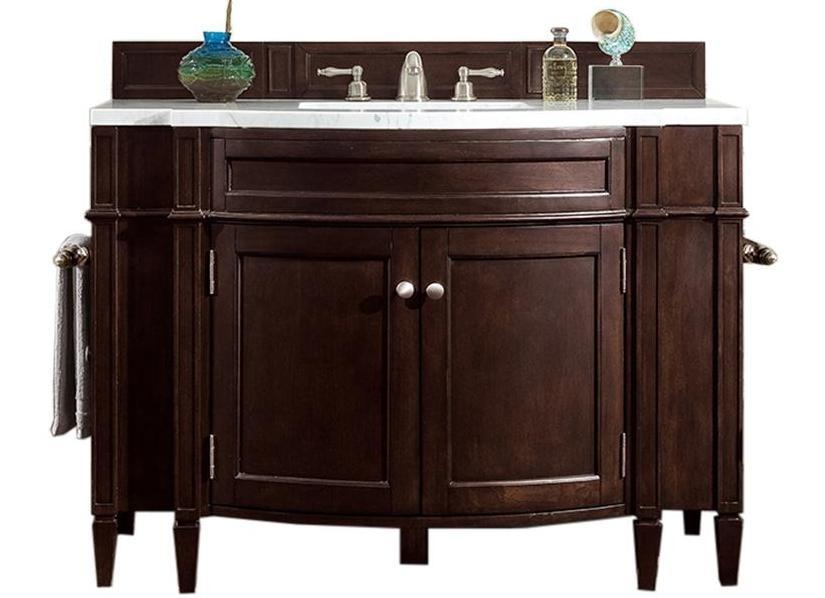 "46"" Brittany Burnished Mahogany Single Bathroom Vanity, James Martin Vanities - vanitiesdepot.com"