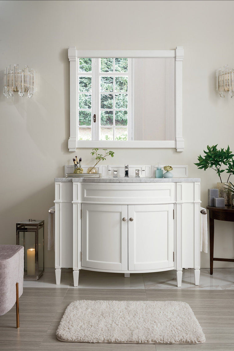 "46"" Brittany Cottage White Single Bathroom Vanity, James Martin Vanities - vanitiesdepot.com"