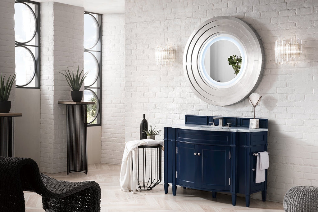 "46"" Brittany Victory Blue Single Bathroom Vanity, James Martin Vanities - vanitiesdepot.com"