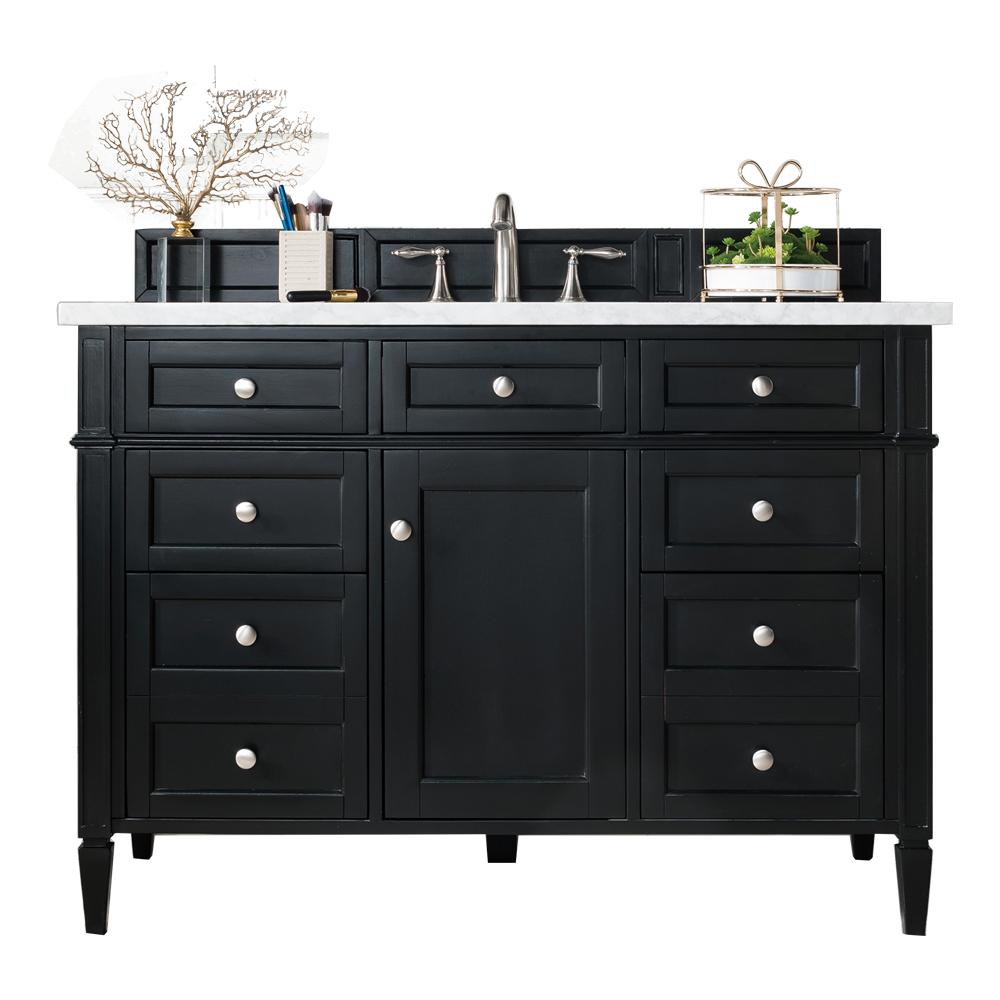 "48"" Brittany Single Bathroom Vanity Black Onyx, James Martin Vanities - vanitiesdepot.com"