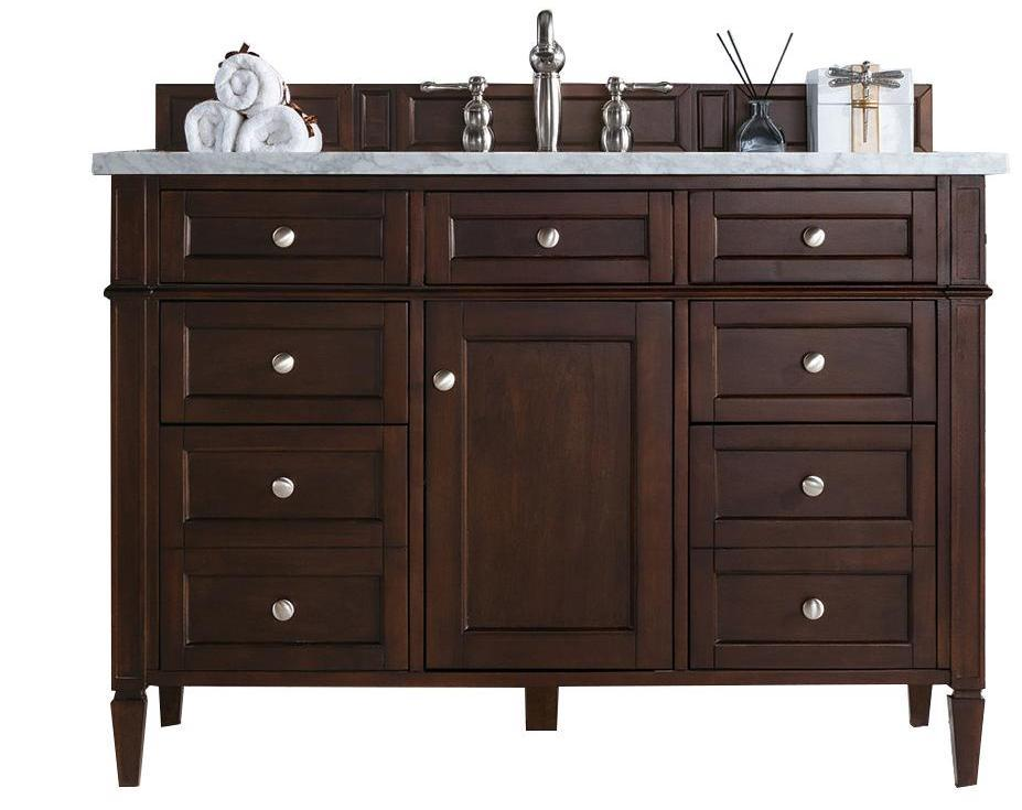 "48"" Brittany Single Bathroom Vanity Burnished Mahogany, James Martin Vanities - vanitiesdepot.com"