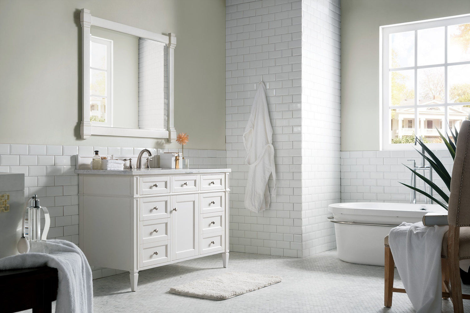 "48"" Brittany Single Bathroom Vanity Cottage White, James Martin Vanities - vanitiesdepot.com"