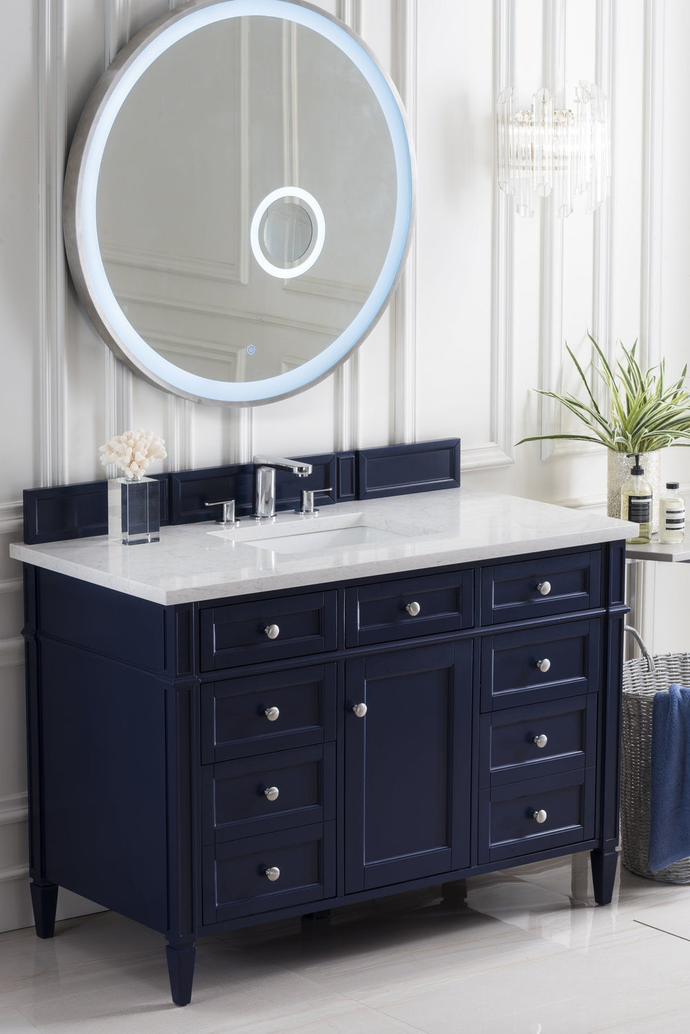 "48"" Brittany Single Bathroom Vanity, Victory Blue, James Martin Vanities - vanitiesdepot.com"
