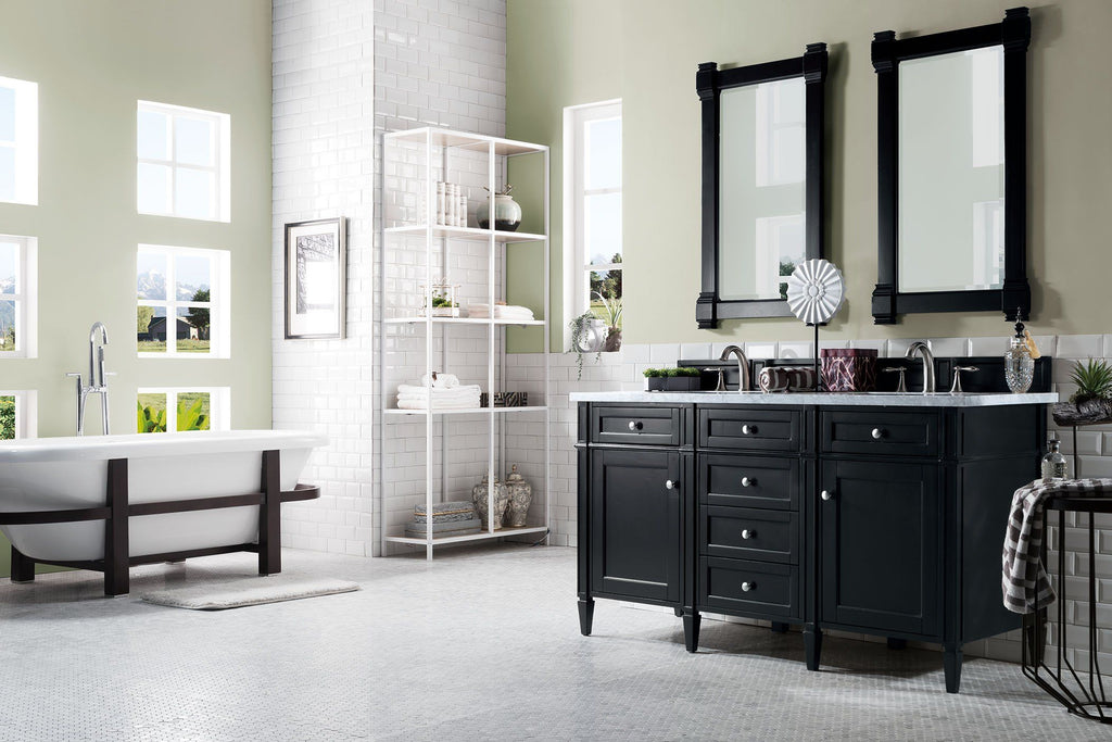 60 Quot Brittany Double Bathroom Vanity Black Onyx