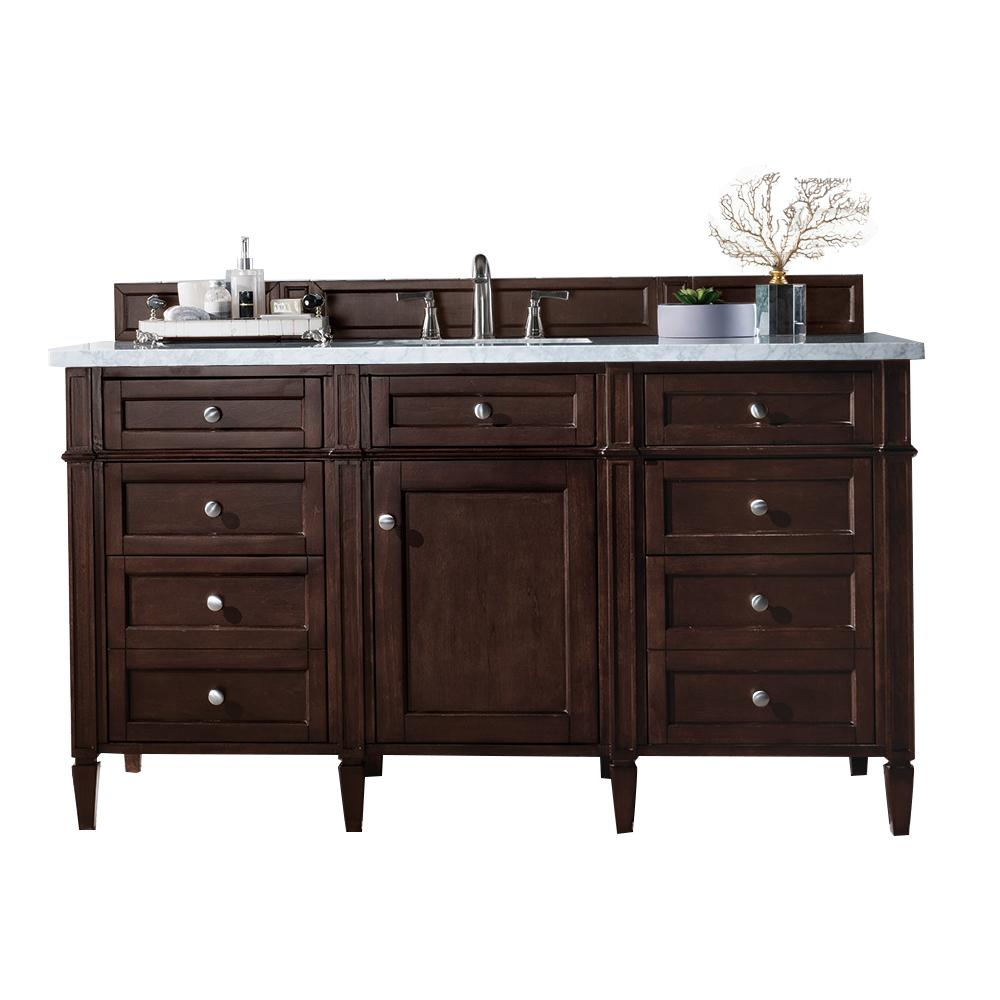 "60"" Brittany Single Bathroom Vanity Burnished Mahogany, James Martin Vanities - vanitiesdepot.com"
