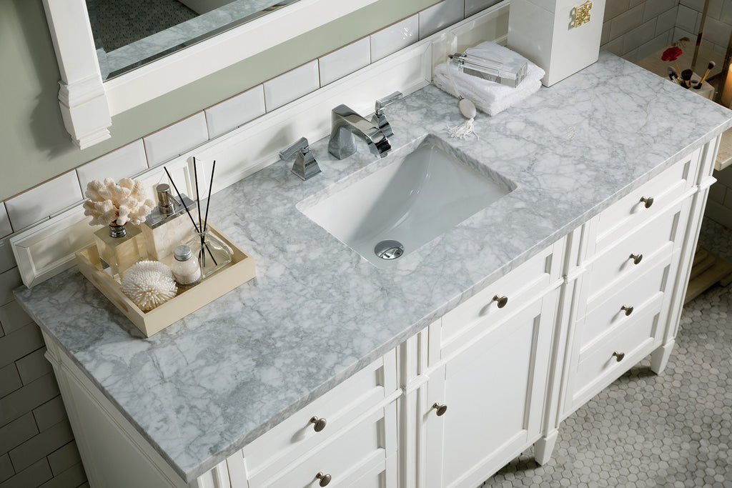 "60"" Brittany Single Bathroom Vanity Cottage White, James Martin Vanities - vanitiesdepot.com"