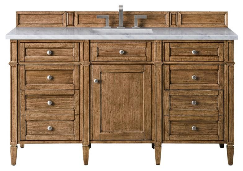 "60"" Brittany Single Bathroom Vanity Saddle Brown"