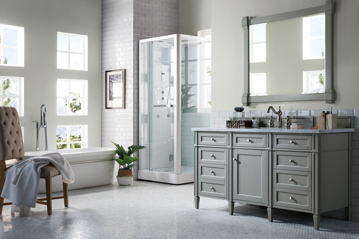 60 Quot Brittany Single Bathroom Vanity Urban Gray