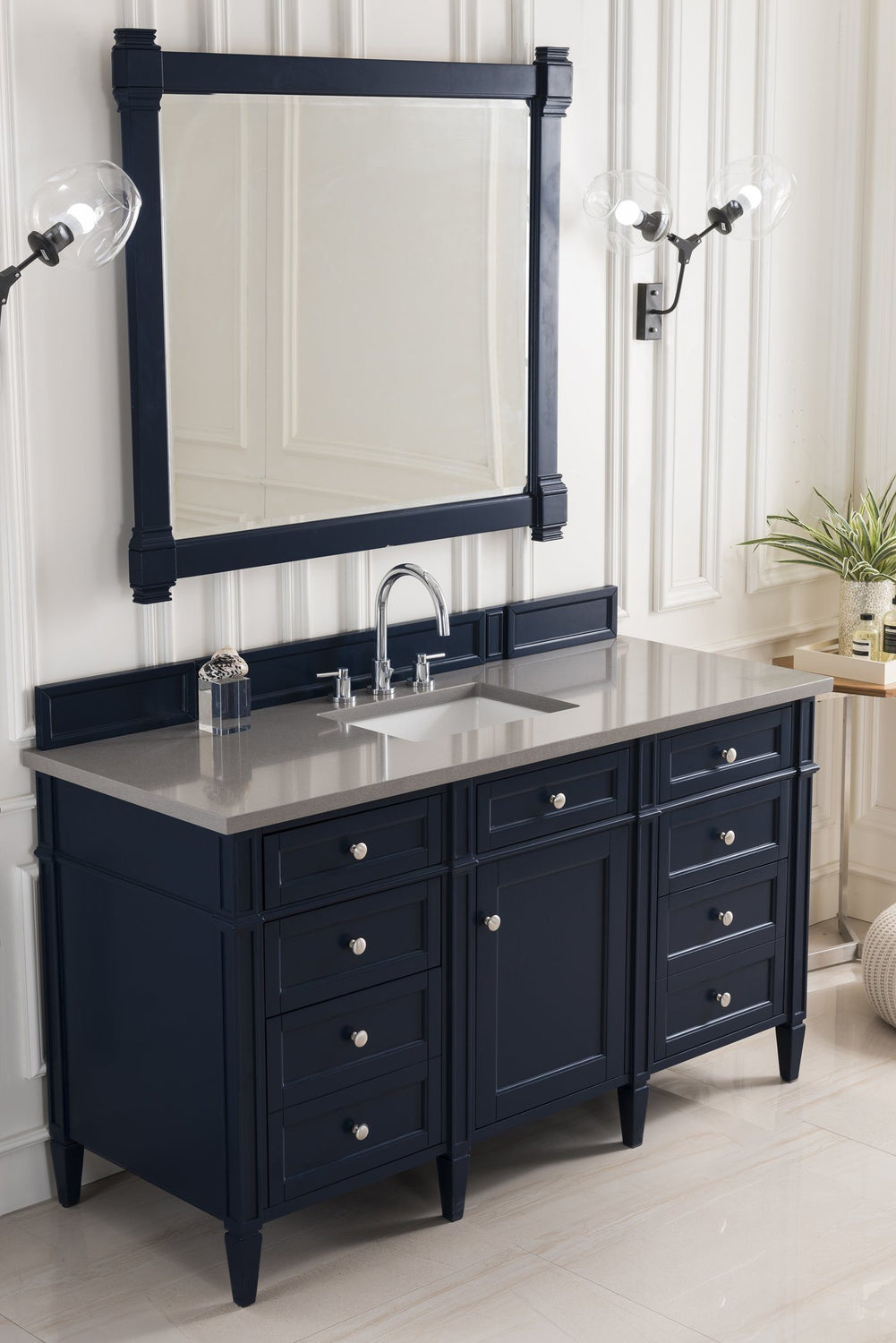 "60"" Brittany Single Bathroom Vanity, Victory Blue, James Martin Vanities - vanitiesdepot.com"