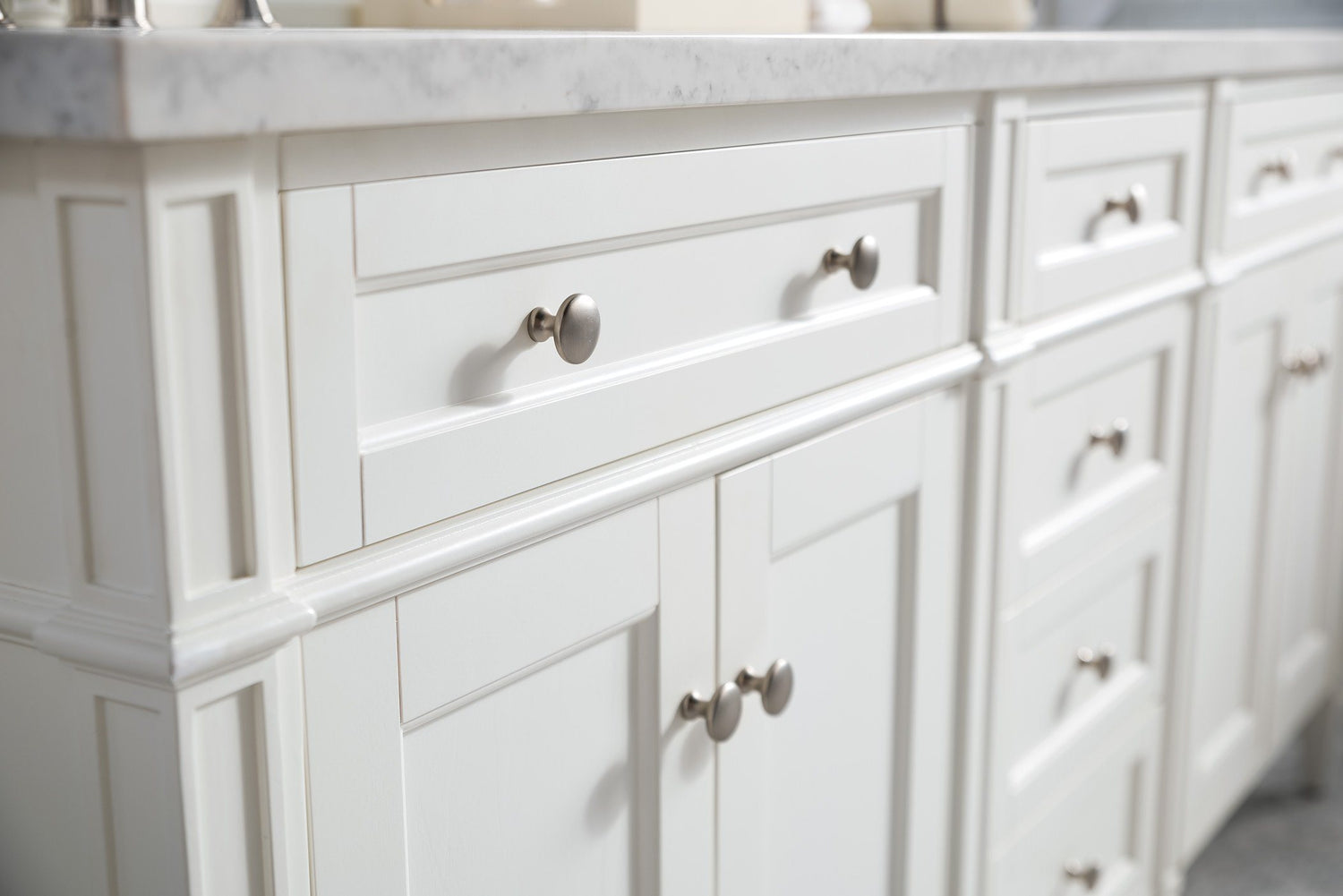 "72"" Brittany Double Bathroom Vanity Cottage White, James Martin Vanities - vanitiesdepot.com"