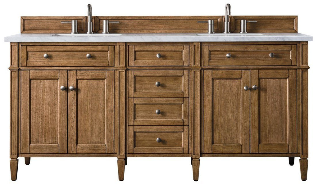 "72"" Brittany Double Bathroom Vanity Saddle Brown"