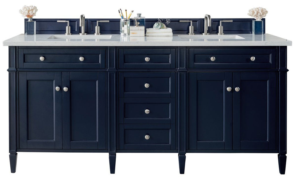 "72"" Brittany Double Bathroom Vanity Victory Blue, James Martin Vanities - vanitiesdepot.com"