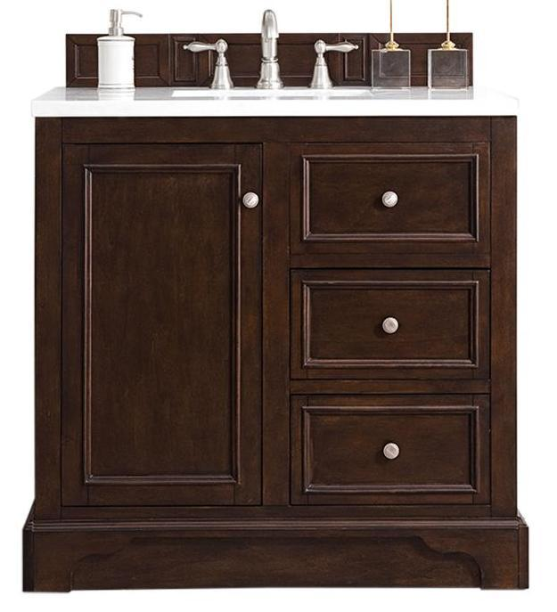 "36"" De Soto Burnished Mahogany Single Sink Bathroom Vanity, James Martin Vanities - vanitiesdepot.com"