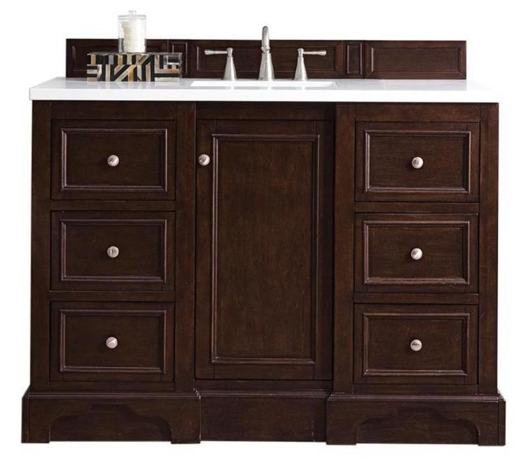 "48"" De Soto Burnished Mahogany Single Sink Bathroom Vanity, James Martin Vanities - vanitiesdepot.com"