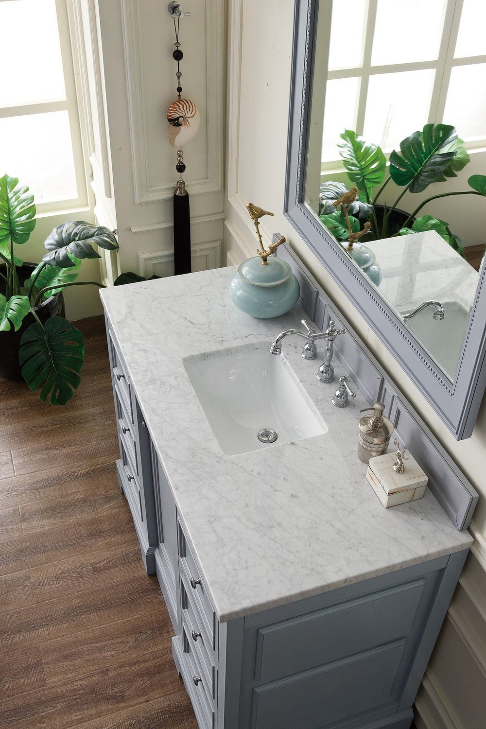 "48"" De Soto Silver Gray Single Sink Bathroom Vanity, James Martin Vanities - vanitiesdepot.com"