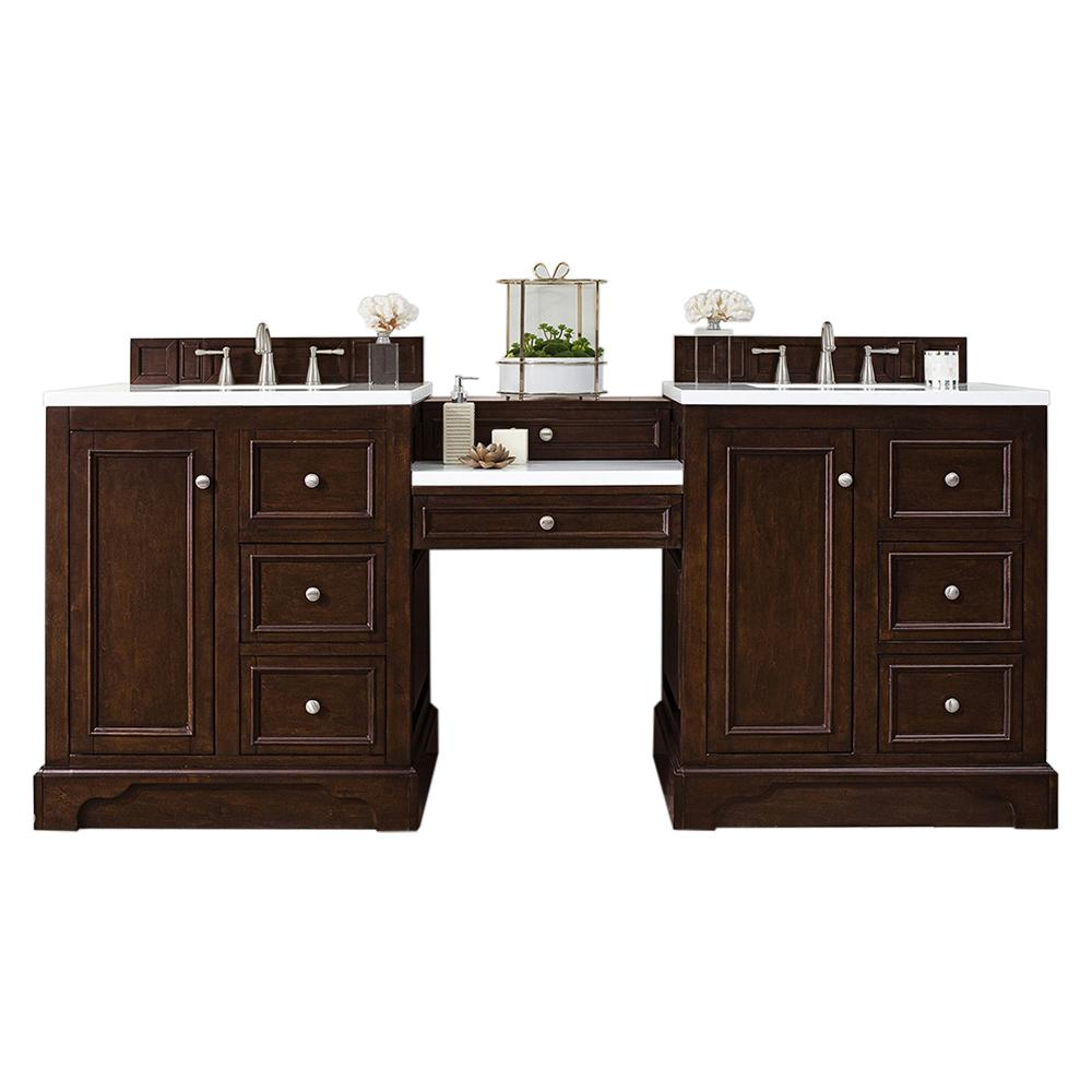 "82"" De Soto Burnished Mahogany Double Sink Bathroom Vanity, James Martin Vanities - vanitiesdepot.com"